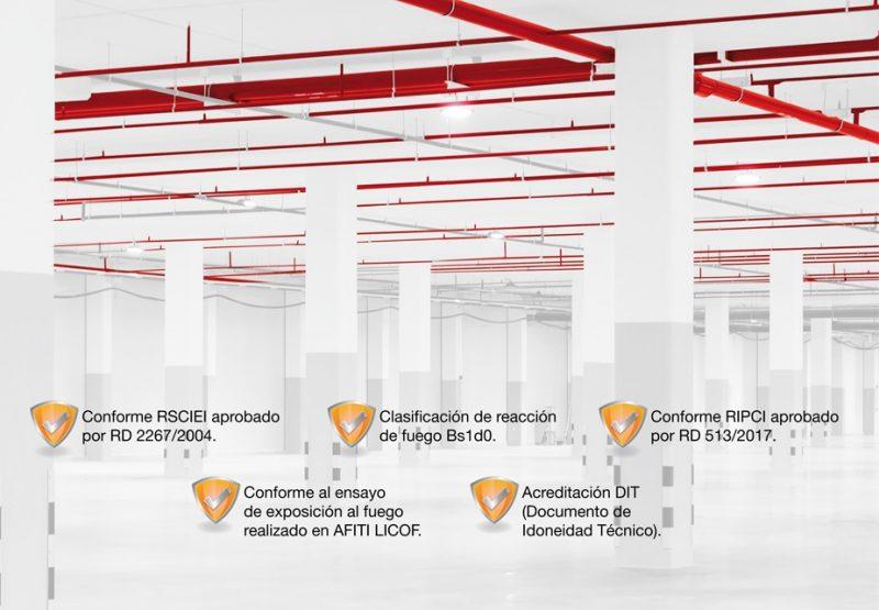 Seguridad Certificada Sistema NIRON Red tuberias polipropileno