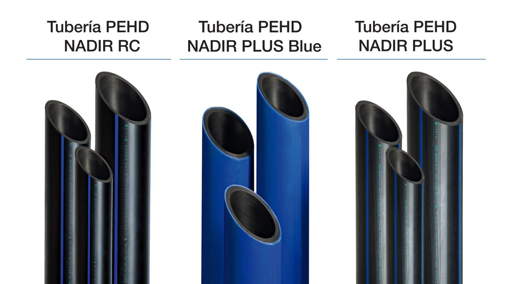 Gama de tuberías de polietileno de alta densidad (HDPE)